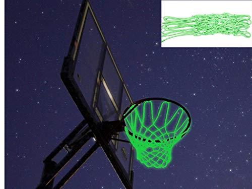 Captank Glow in The Dark Basketball Net Hoop Light Glowing Basketball Hoop Replacement Net All Weather Thick Standard Size Heavy Duty Indoor Outdoor Sports Net]()