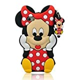 VOCOX 3d Cartoon Minnie Mouse Soft Silicon Case Cover Compatible for Apple iphone 6 4.7
