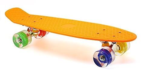 f03da2da6a7 Merkapa 22 quot  Complete Skateboard with Colorful LED Light Up Wheels for  Beginners ...