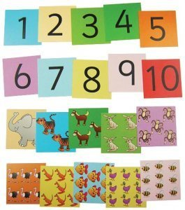 stars craft animal number cards 1 10 maths educational amazon co