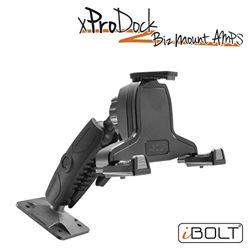Amp Handset - iBOLT xProDock Bizmount AMPs - Heavy Duty Drill Base Mount and 2m microUSB Cable for Android Smartphones- for Cars, Desks, Countertops: Great for Commercial Vehicles, Trucks, and Telematic Commuters