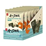 A-Sha Sesame Almond Seaweed Snacks, Spicy, 6 Count