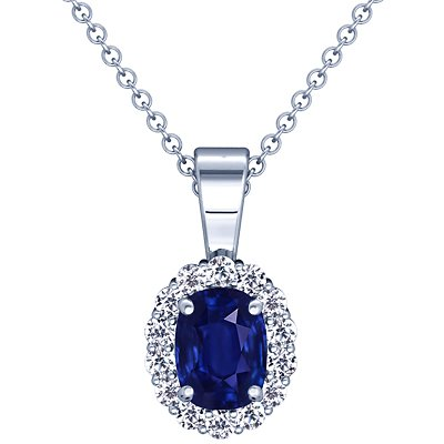 Platinum Cushion Cut Blue Sapp