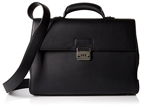 Ermenegildo Zegna Men's Briefcase Bag, Nero by Ermenegildo Zegna