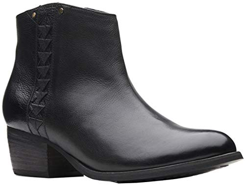 Clarks Women's Maypearl Fawn Fashion Boot, Black Leather, 6.5 M US
