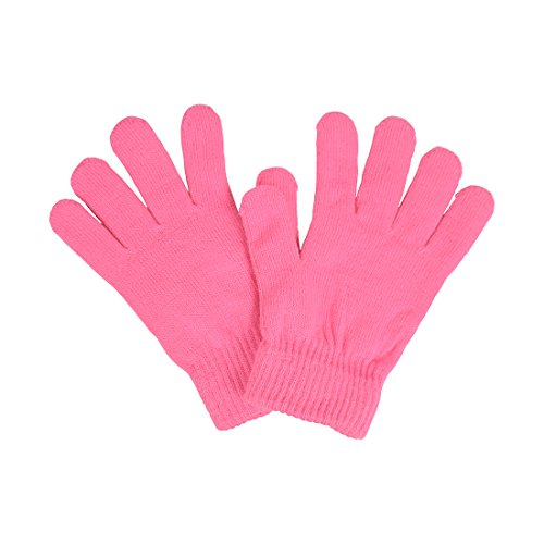 Ladies Gloves Magic Knit Gloves for Women Solid Colors - Bubble Gum