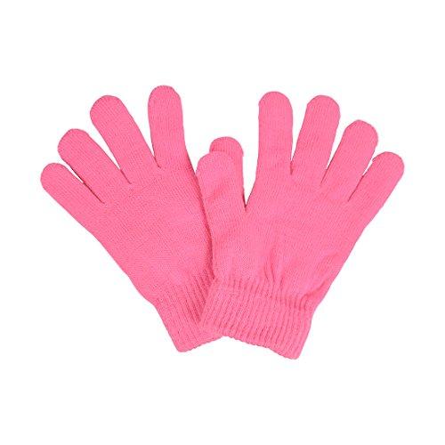 (Ladies Gloves Magic Knit Gloves for Women Solid Colors - Bubble Gum)