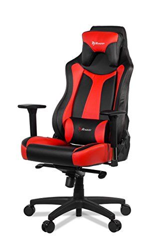 (Arozzi Vernazza Series Super Premium Gaming Racing Style Swivel Chair, Red)