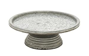 "Deco 79 49189 Metal Cake Stand, 13"" x 4"""