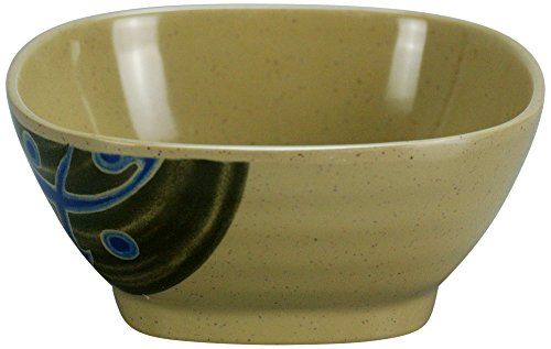 Yanco JP-1035 Japanese 4.25'' Square Bowl, 8 oz Capacity, 1.75 Height, Melamine, Pack of 48 by Yanco