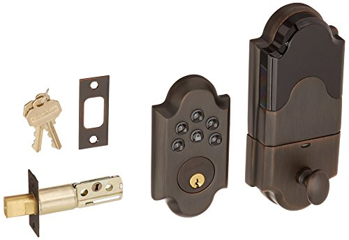 (Baldwin 8252.AC1 Boulder Keyless Entry Single Cylinder Electronic Deadbolt, Venetian Bronze)