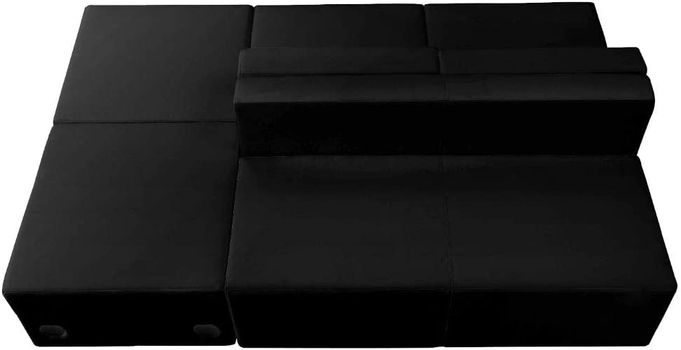 Flash Furniture Black Leather Recep Set, 4 PC