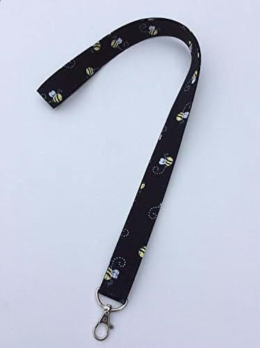 Amazon.com: Black Bees Lanyard ID Badge Key Holder Keeper