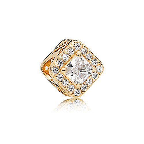 PANDORA Charm in 14k Yellow Gold with Clear Cubic Zirconia - 756207CZ