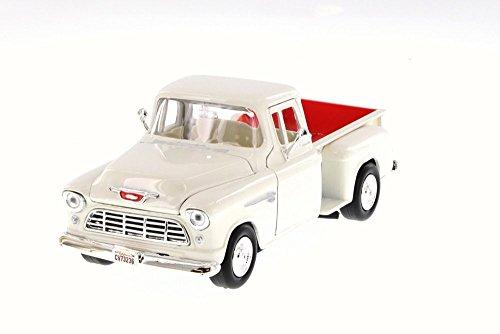 Motormax 73236 1955 Chevrolet 5100 Stepside Pickup Truck Beige 1/24 Diecast Car Model