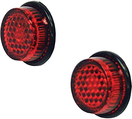 20mm Red Reflector Round Self Adhesive MOT number plate Stick On Motorcycle