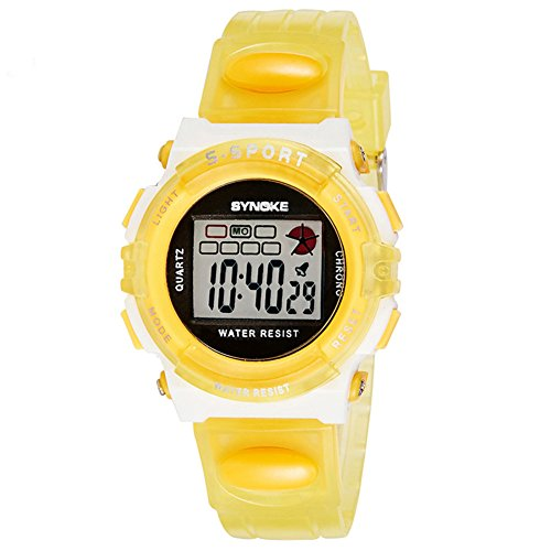 Sport Outdoor Waterproof Digital Alarm Girls Watch for Kids by Gufling