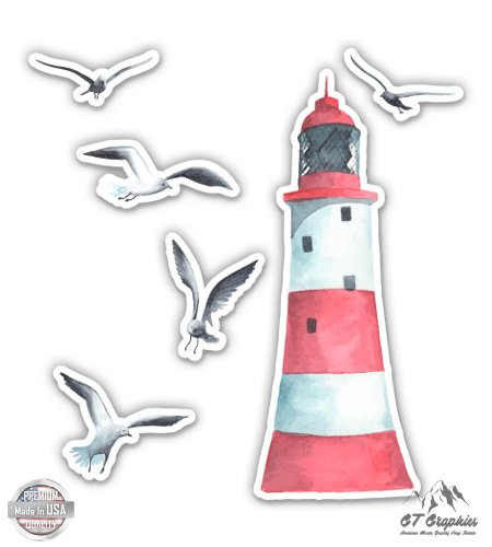 GT Graphics Lighthouse Seagulls Ocean Beach Theme - 16