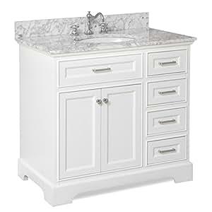 Aria mueble de ba o 36 carrara blanco bricolaje y herramientas - Amazon muebles de bano ...