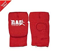 RAD Karate Mitts Elasticated Cotton Martial Arts Boxing MMA Training New (Red, XL)