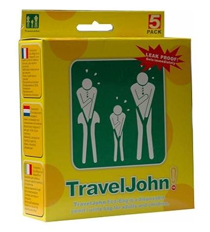 TravelJohn vomitar bolsas 5 x 5 unidades: Amazon.es: Salud y ...