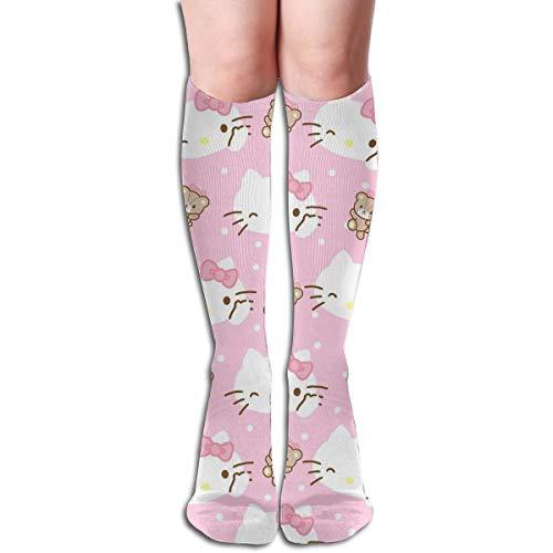 JINUNNU Knee High Socks Hello Kitty Bear Cool Boot Socks for Girl Women