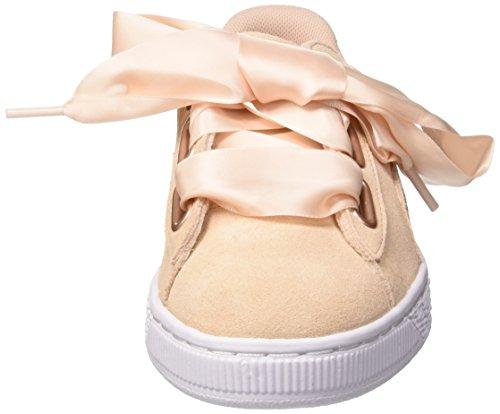 Heart Puma Lunalux Femme Sneakers Basses Tan Beige Suede cream Wn's TFFOq5Arw