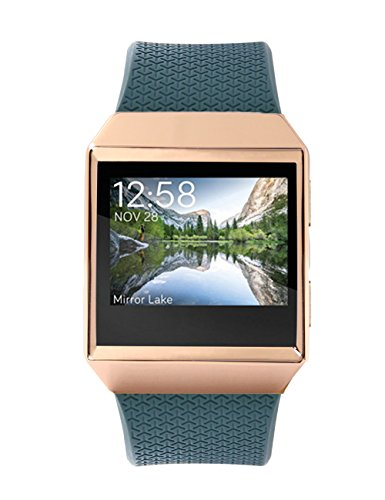 18k Gold Plated Case - Callancity 18K rose gold plated aluminum metal sport case cover bezel for fitbit ionic