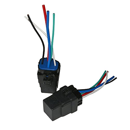 Astonishing Ehdis 2 Pack Car Automotive Truck Boat 40 Amp Relay Harness 12V Wiring 101 Photwellnesstrialsorg