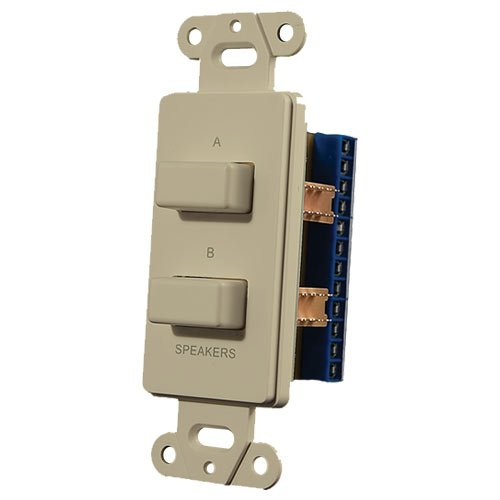 OEM Systems IW-303-I Push Button Speaker Switch (Ivory, 2 Buttons)