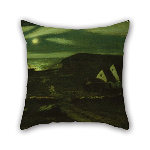 Artistdecor Valentine Day Pillow Covers Of Oil Painting Albert Pinkham Ryder - Fisherman's Hut 20 X 20 Inches / 50 By 50 Cm Best Fit For Lover Monther Father Boy - Hut Cactus