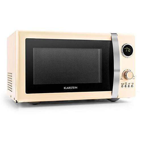 Klarstein Fine Dinesty microondas 2en1 - microondas con parrilla , 23 l cámara de cocción , 800 W de microondas , 1000 W de parrilla , 12 programas y ...