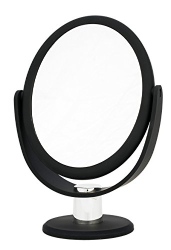 Danielle Creations Soft Touch Black Oval Vanity Mirror, 7X - Mirror Black Canada