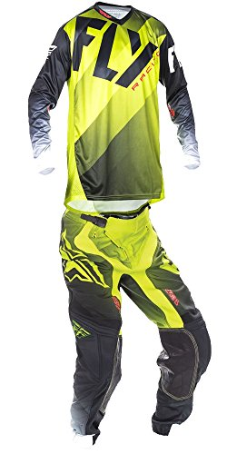 Fly Racing 2017 Lite Hydrogen Lime Jersey and Pant Combo - Size:Large/32W by Fly Racing