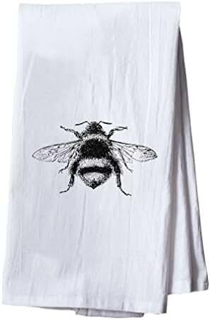Bumblebee Vintage Look Dish Flour Sack Kitchen Towel