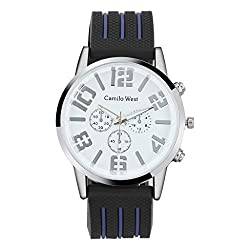 Sodoop Mens Watches, Fashion Trend Outdoor Sports Silicone Strap-Dress + Casual Design, Three-Eye Dial Men's Watch