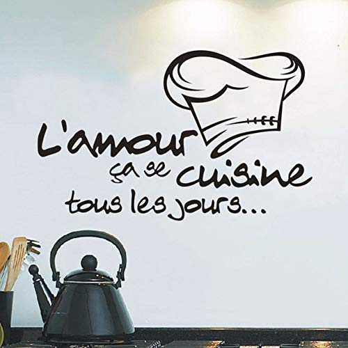 Dalxsh DIY Kitchen Stickers Cuisine Sticker Vinyl Decal Tile Chef Wall Decor Stickers Muraux Pour Enfants Chambres Duvar Sticker Room 40x60cm]()