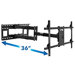 Mount-It! Long Extension TV Mount, Dual Arm Full Motion Wall Bracket with 36 inch Extended Articulating Arm, Fits Screen Sizes 50 55 60 65 70 75 80 85 90 Inch, VESA 800x400mm Compatible, 176 lb