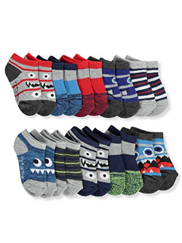 Tic Tac Toe Baby Boys' 10-Pack Low-Cut Socks - gray, 0-12 months (Toe Socks Boys Tic Tac)