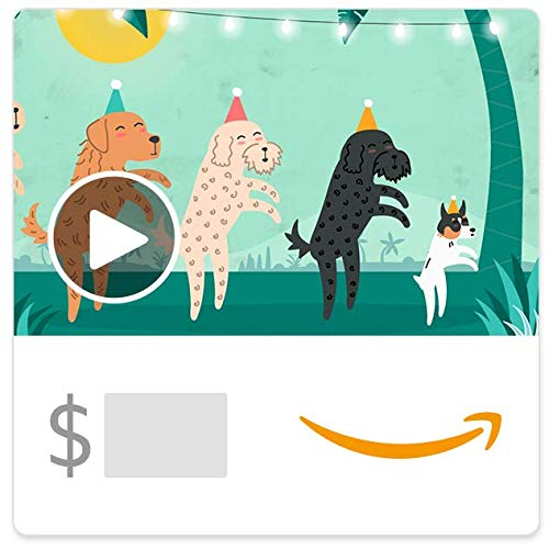 Amazon eGift Card - Conga Dogs (Animated) (Grandparents Day Cards For Kids To Make)