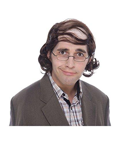 Mullet Professor Combover Brown (Wig Mullet Professor)