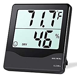 Oria Digital Hygrometer Thermometer Indoor Thermometer Humidity Monitor Temperature Humidity Gauge Meter With Comfort Indicators Min Max Records ℃ ℉ Switch For Home Office Greenhouse Room