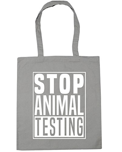 10 Beach Stop Shopping litres Bag Tote Light Grey HippoWarehouse 42cm x38cm Gym Animal Testing fvqS6S