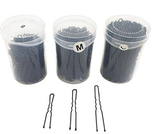1 Box Bobby Pins Black Waved U Shaped Hair Pins Bun Pins Hair Slides Grips Hair Accessory Perfect for Buns Up-Dos and More (2 Inches-5.2cm)