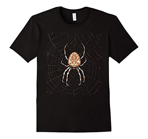 Spider Costume Diy (Mens Spider Halloween Costume Shirt Easy Funny gift XL Black)