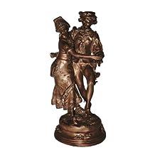 "(24"") Harvest Dance Lovers Jump (Solid)bronze Statue Sculpture"