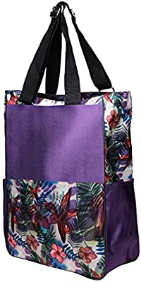 Womens Tennis Tote Bag Glove It Big Fashion Tote Bag for Women Ladies Sport Totes 6 Outside Pockets Womens Large Tote Bags with Zipper /& Shoulder Strap