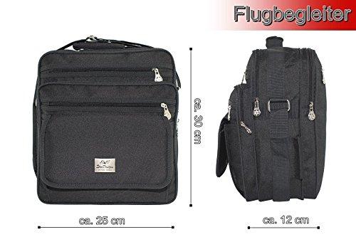 Messenger Bag, compañero de viaje, hombro, bandolera, cartera para documentos, hochr Formato, Negro, Señor funda
