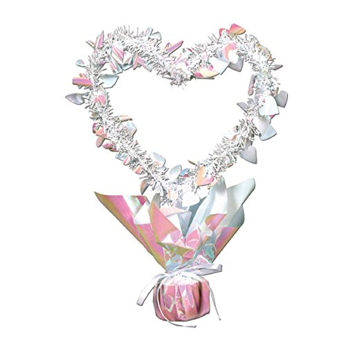 - Pack of 12 Opalescent Heart Gleam 'N Shape Valentines Centerpieces 11.5