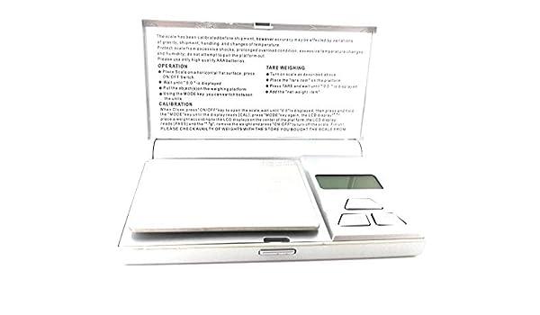 Onfeng Báscula de Precisión Digital de Mano con Display Plateada con Pilas Incluidas Peso Balanza Mini: Amazon.es